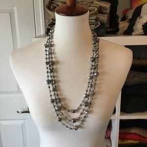 Multi strand beaded necklace.